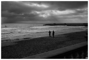 Parella a la platja