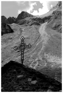 Creu i glaciar