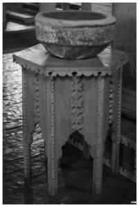 Pila baptismal. Esglesia d'Achao