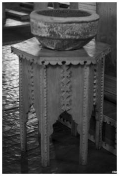 Pila baptismal. Església d'Achao